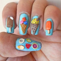 3D ice cream nails - Nail Art Gallery