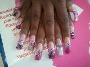 fabric nails - nail art