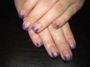 purple zebra - nail art