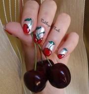nail art cherry