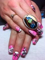 cute barbie nails - nail art
