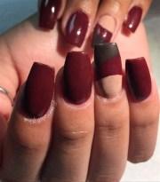 burgundy acrylic color - nail art