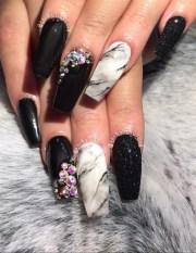 glitter marble & black acrylic
