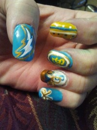 San Diego Chargers! - Nail Art Gallery