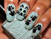 simple cartoon kitty face & paws