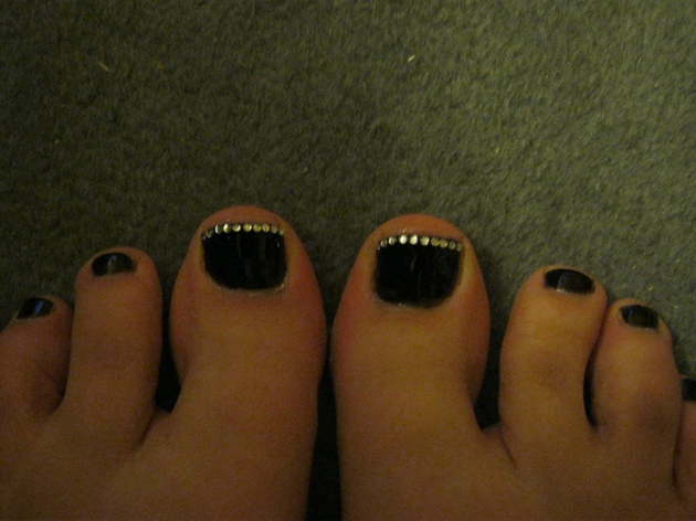 Black With Silver Gems Tip