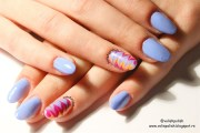 easy gel polish marbel nail art