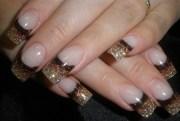 brown bronze gold - nail art