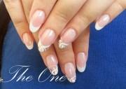 almond french foil swirls - nail