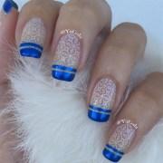 winter french - nail art