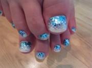mermaid toe nails - nail art