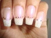 french swirls - nail art