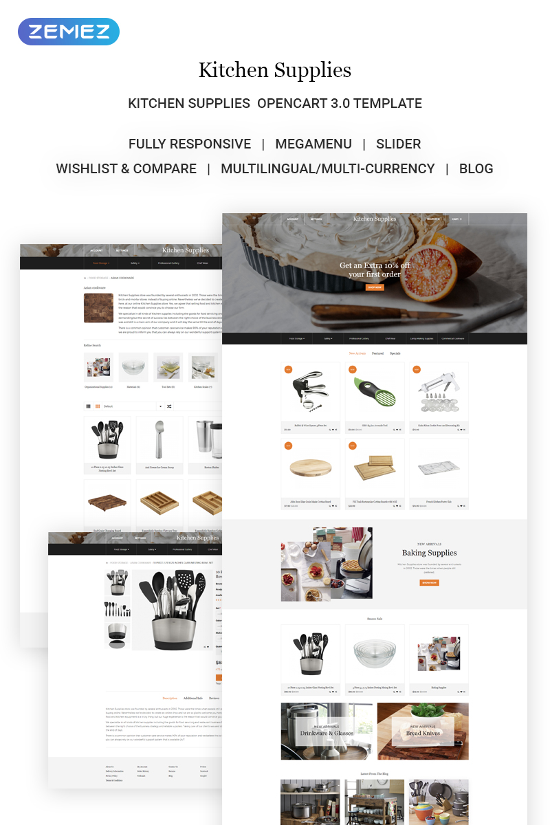 kitchen supplies online used cabinets for free elegant accessories store opencart template new screenshots big