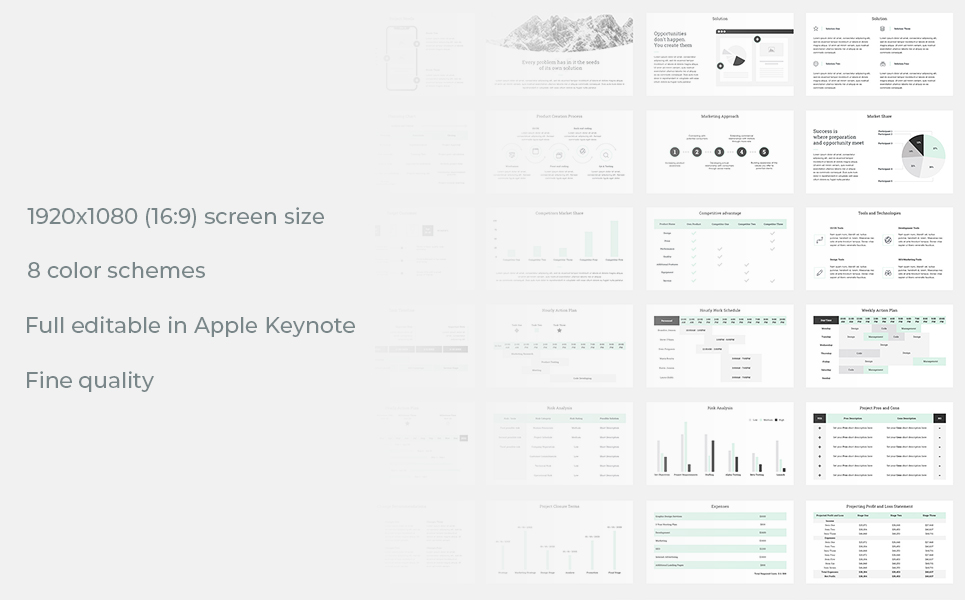 Project Management Report Keynote Template #78735
