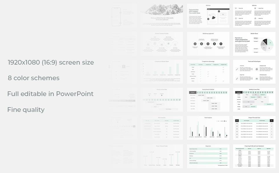 Project Management Report PowerPoint Template #78737