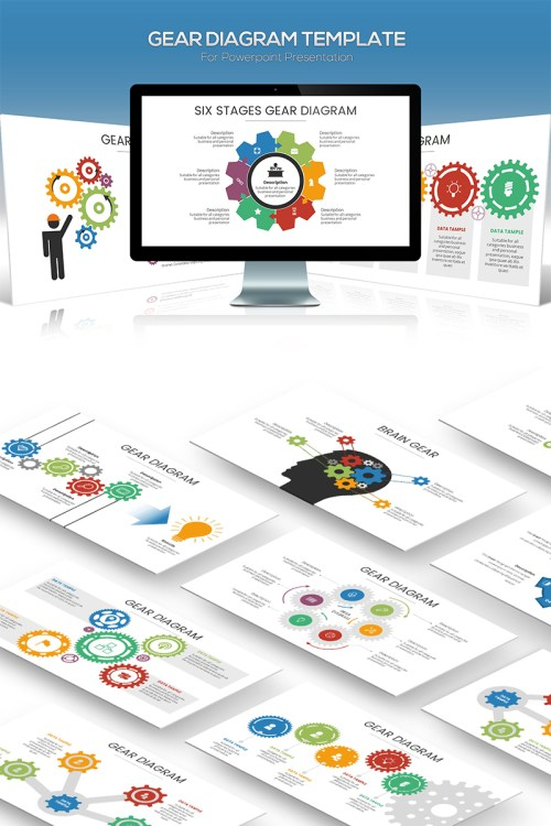 small resolution of gear diagram powerpoint template
