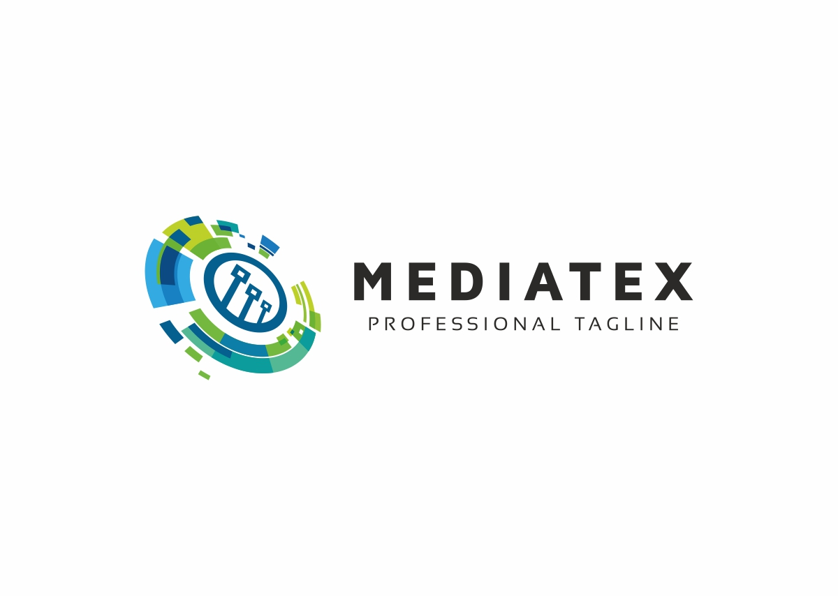 Mediatex Abstract Comm Logo Template #69757