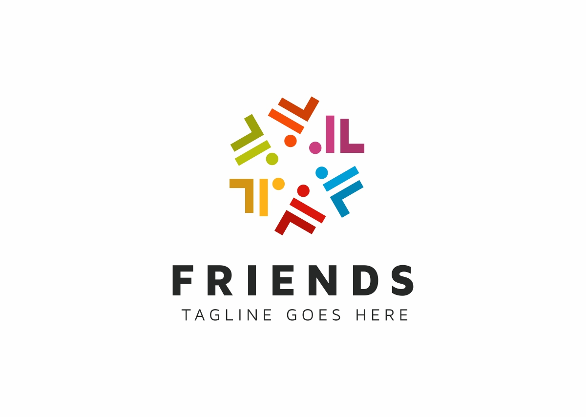 Friends Connect People Logo Template #71166