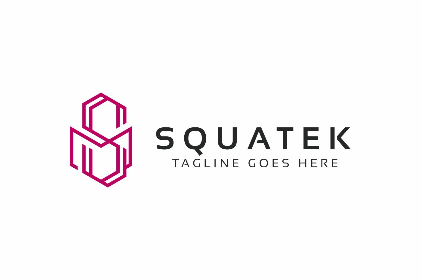 Squatek S Letter Logo Template #74436