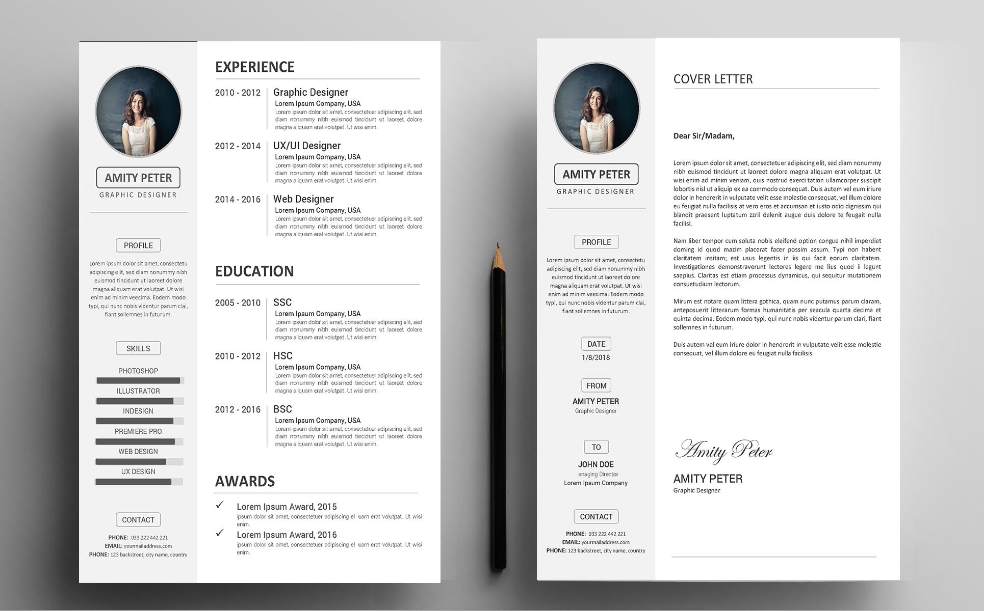 great modern resume