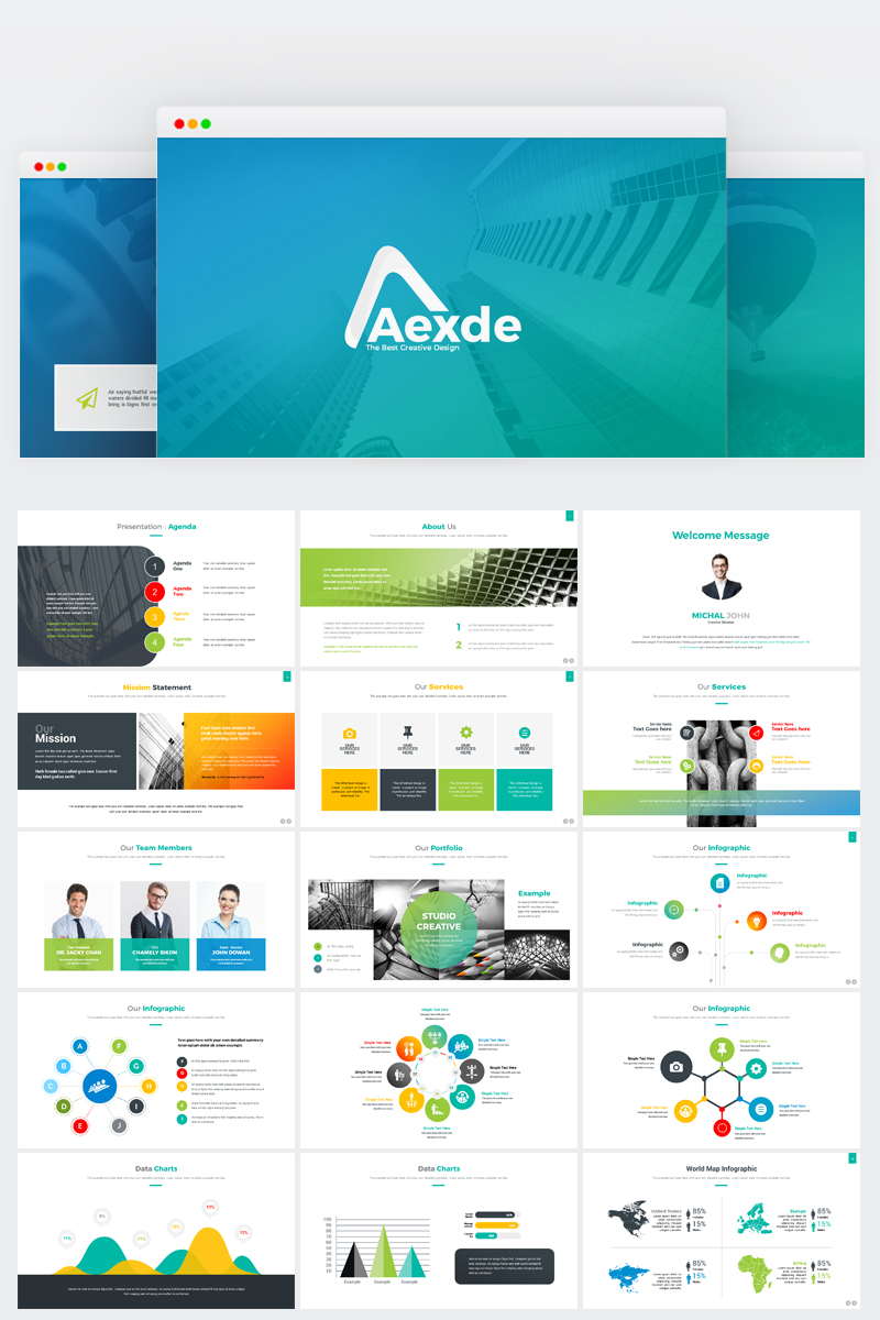 Aexde PowerPoint Template 71930