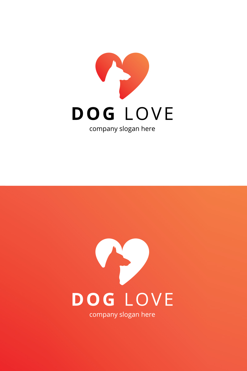 dog love logo template