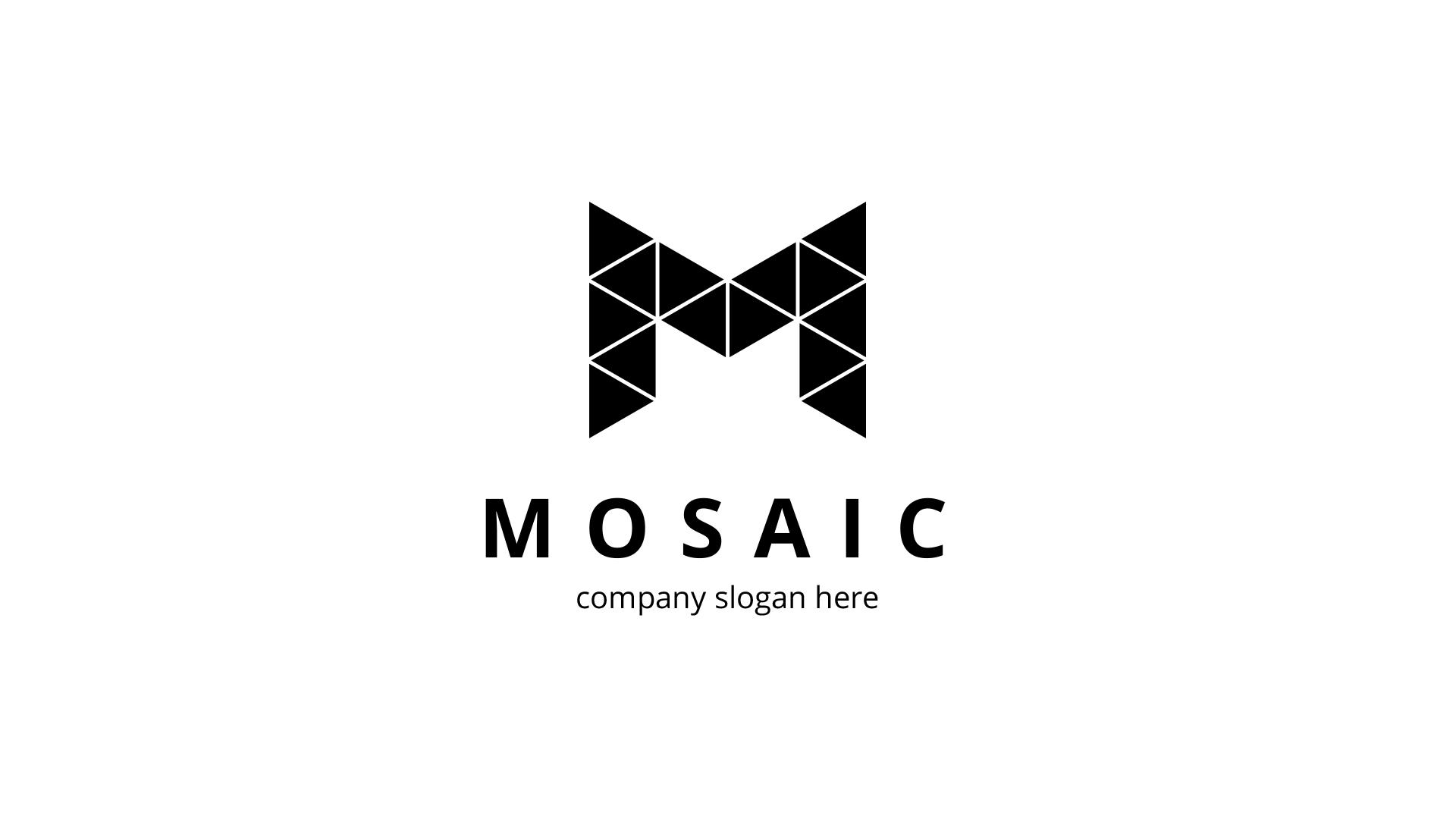 Mosaic M Letter Logo Template #81427