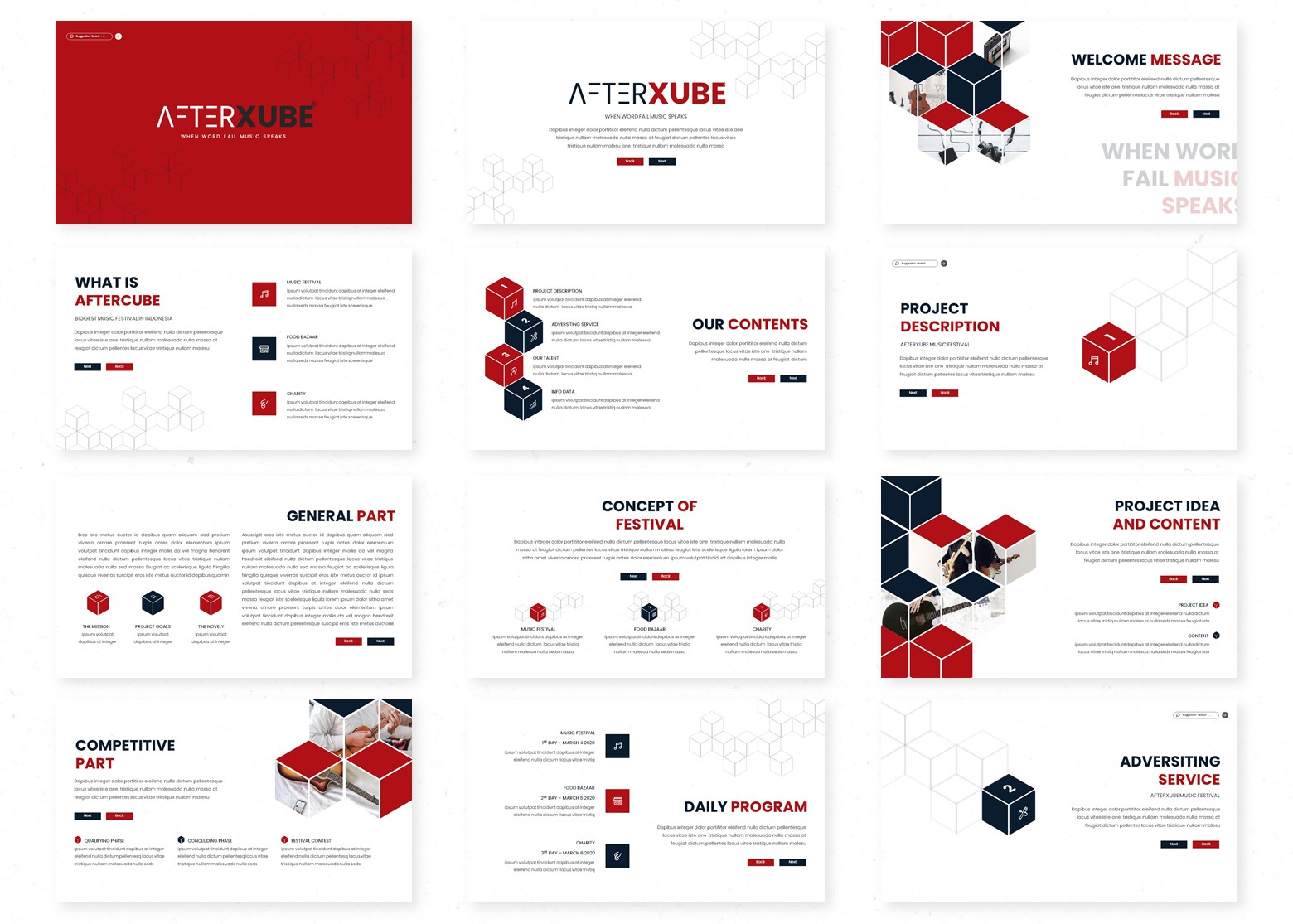 Afterxube PowerPoint Template