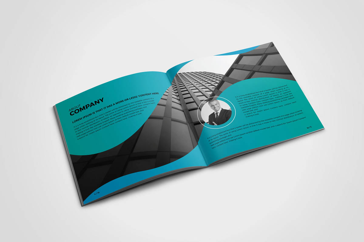 Abstract and Modern Colorful Brochure Design Template with Gradients