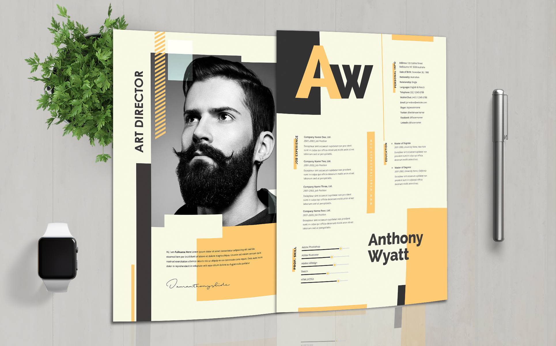 Designer Professional and Clean Resume Template