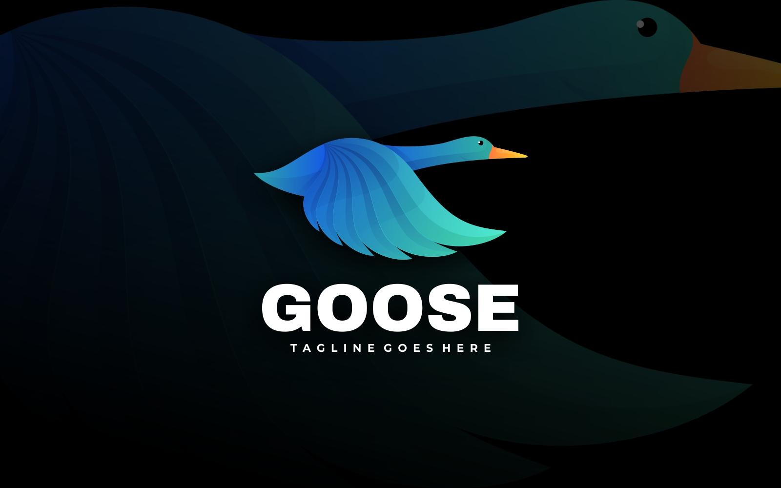 Flying Goose Gradient Logo