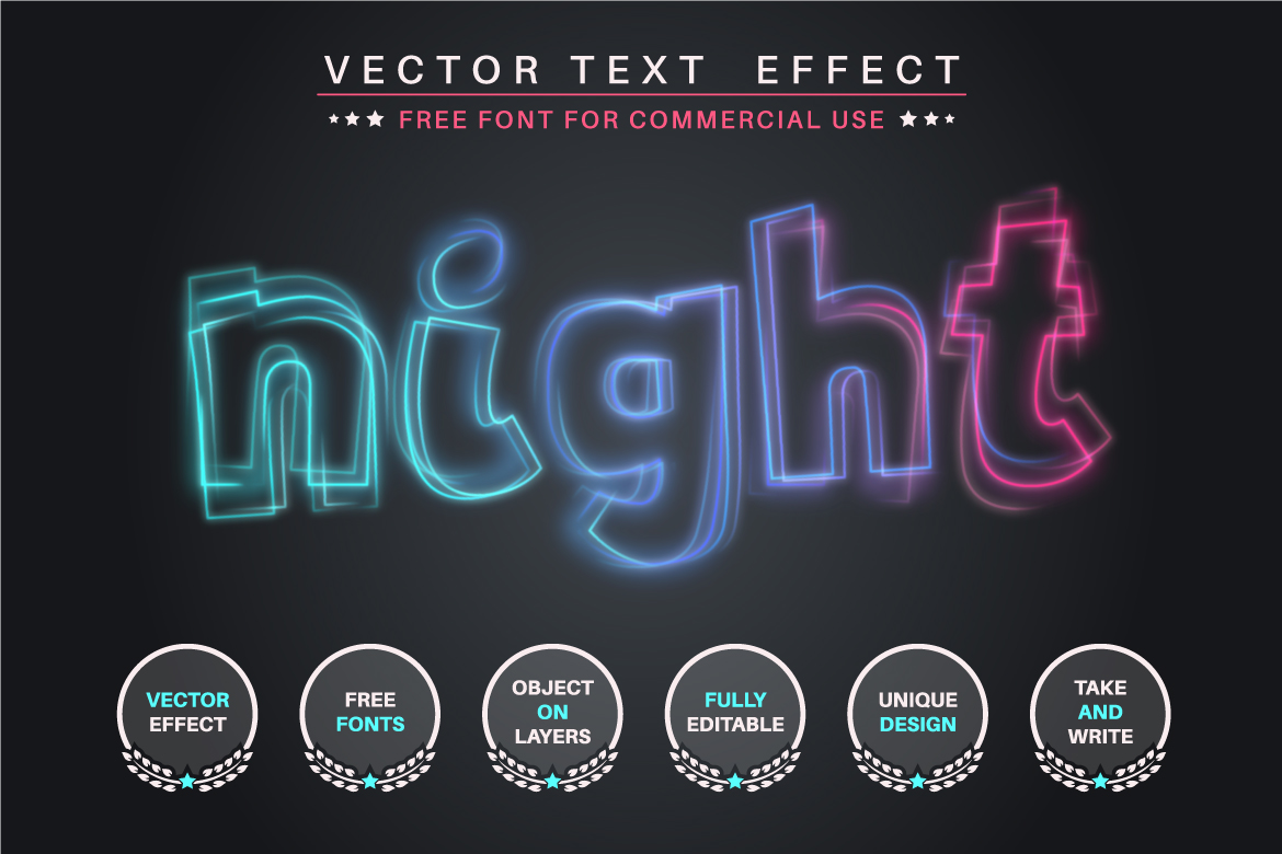 Quivering Glow - Editable Text Effect, Font Style, Graphics Illustration