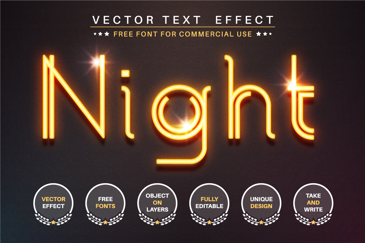 Glowing Wire - Editable Text Effect, Font Style, Graphics Illustration