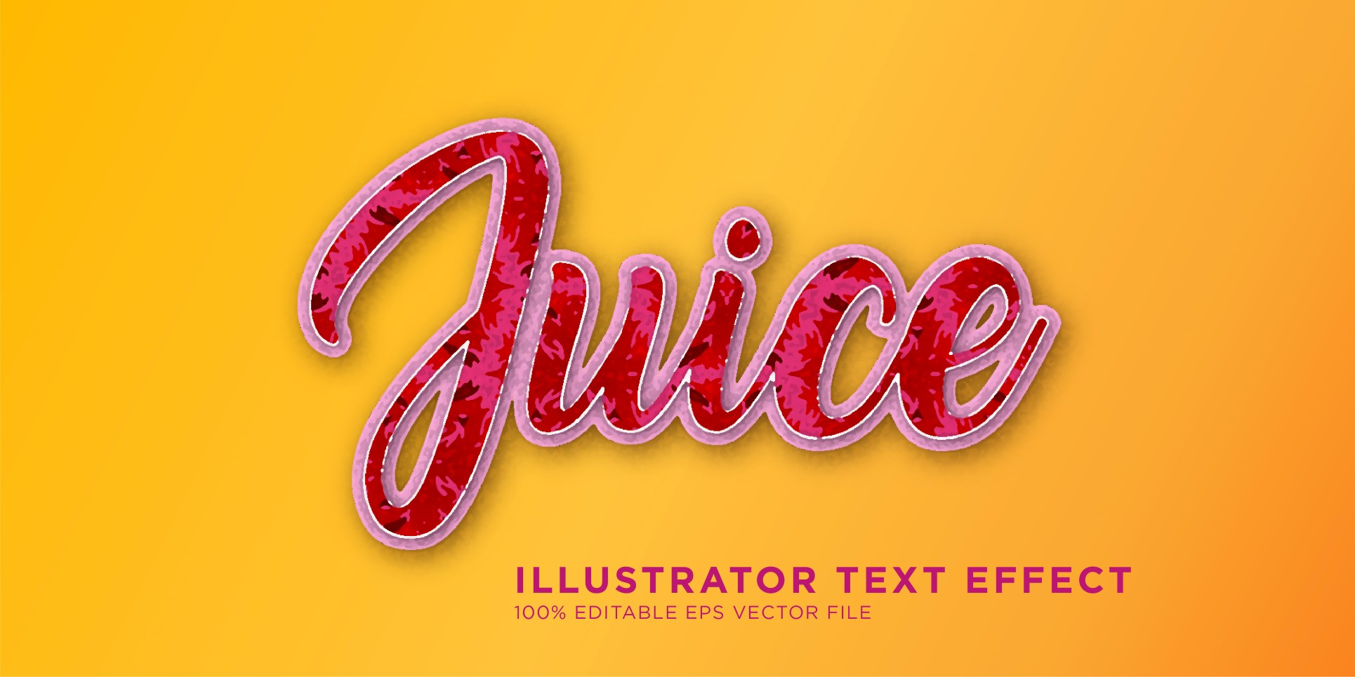 Juice illustrator Text Effect Illustration