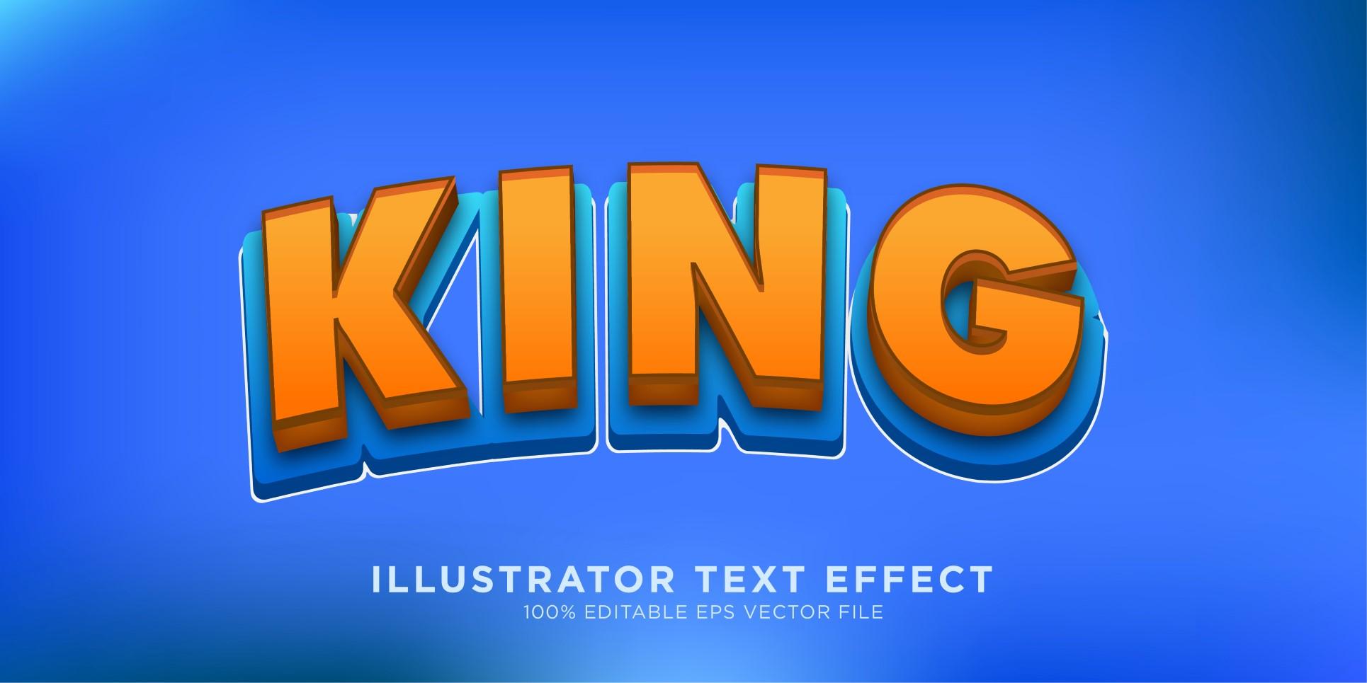 King Illustrator Text Effect Illustration