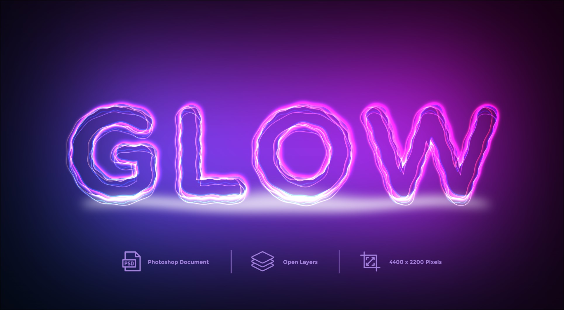 Glow Text Effect Design Layer Style