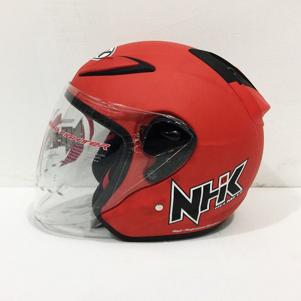 Exclusive Helm NHK R6 Red Doff Solid