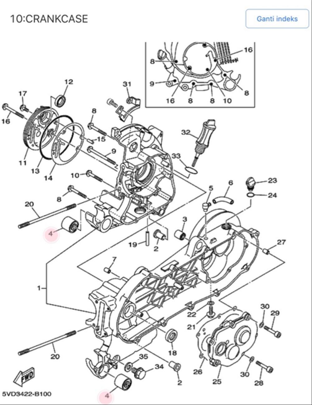 medium resolution of jual bagus engine mounting bos cvt nouvo asli yamaha di lapak diagram cvt nouvo