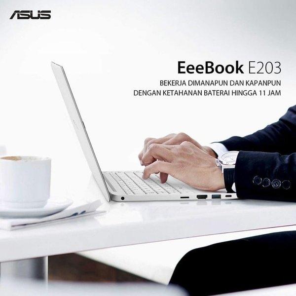 DIJUAL ASUS E203NAH N3350 4GB 500GB WIND10 BERKUALITAS