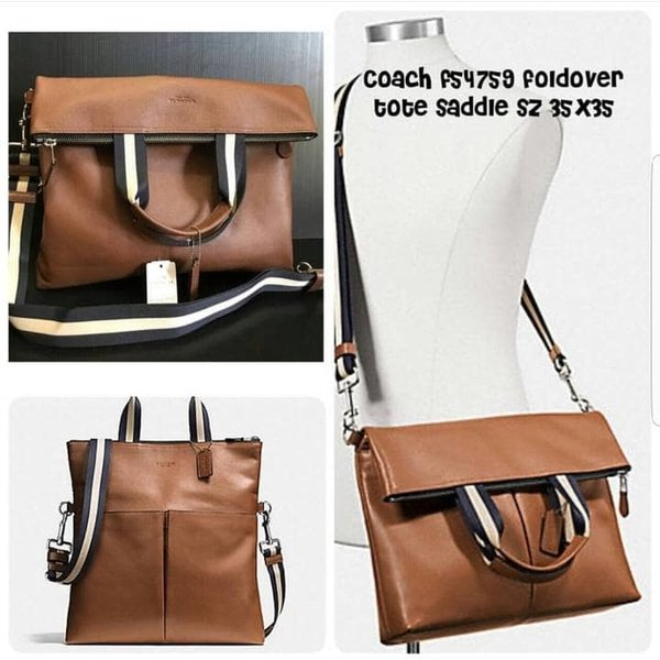 Tas Pria Sling Coach Full Leather Original Authentic
