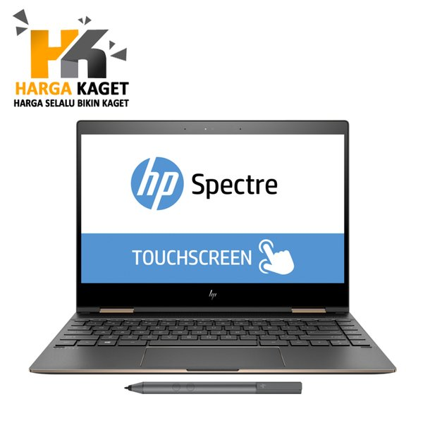 HP Spectre X360 13-AE518TU - Intel Core i5-8250U - 8GB - 256GB - Non DVD - 13.3 Inch TouchScreen - Windows 10 - Ash Gold