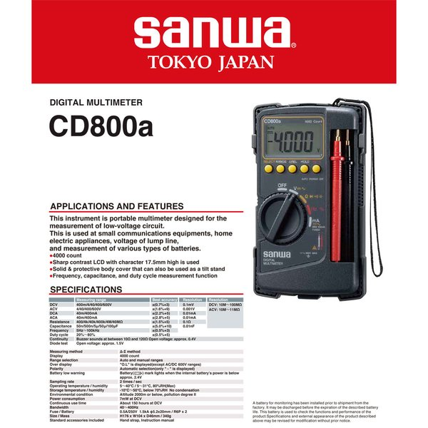 Sanwa Digital Multimeter CD-800a
