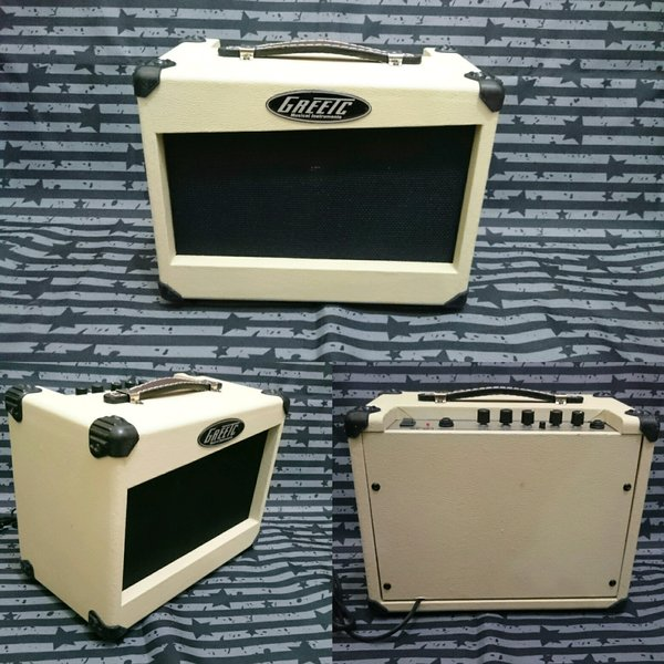 Ampli amplifier sound speaker GREETC orange gitar dan bass elektrik akustik 6in 10watt di tangerang cipondoh