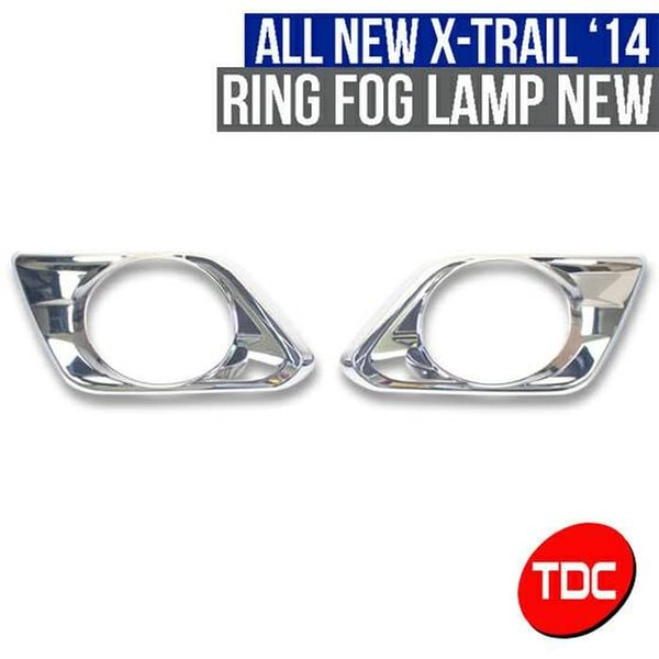 Ring Fog Lamp Chrome Variasi Aksesoris Nissan X Trail 2014