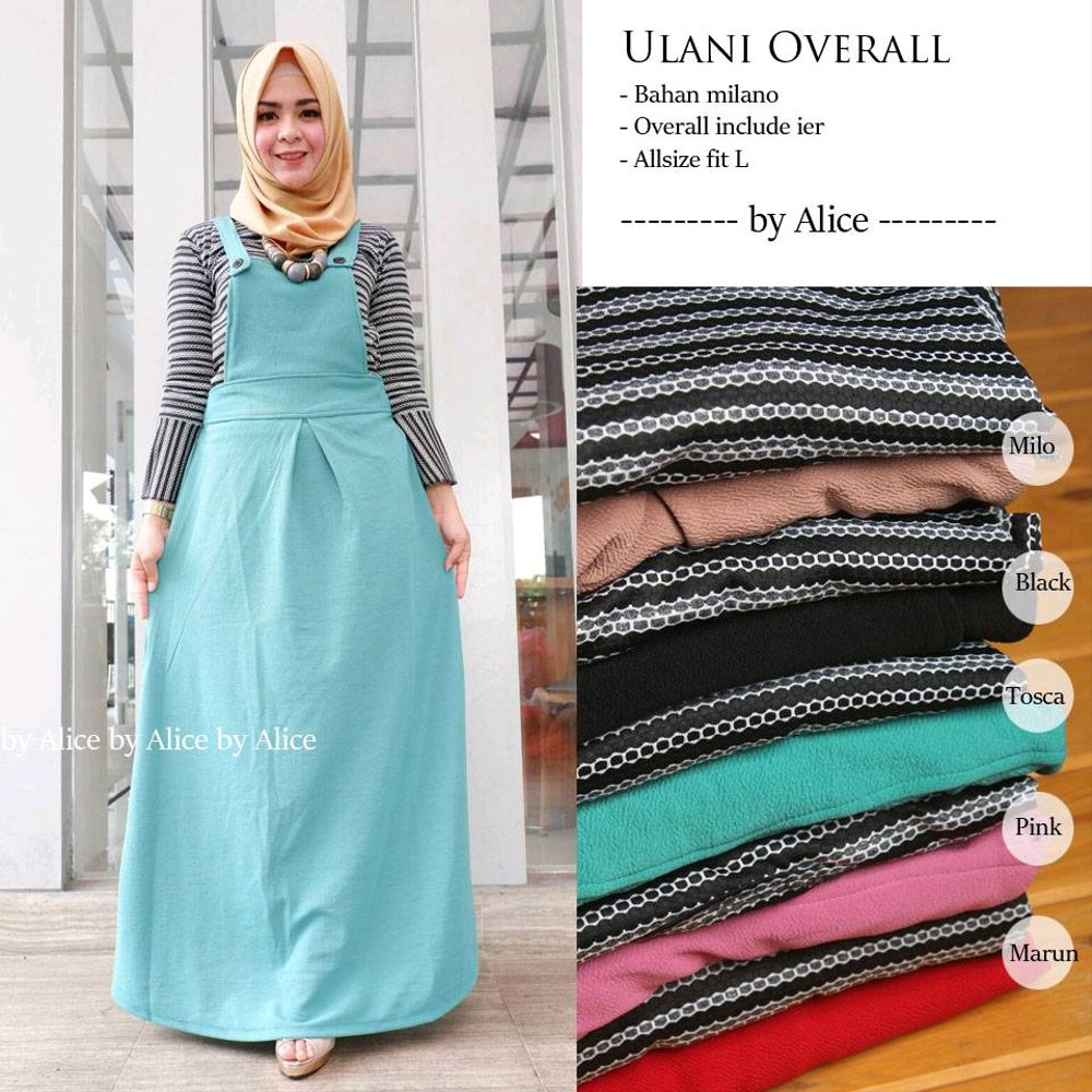 Jual Gamis Overall Ulani Dress By Alice Di Lapak Dheesty