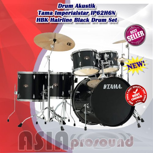 Drum Akustik Tama Imperialstar IP62H6N HBK Hairline Black Drum Set