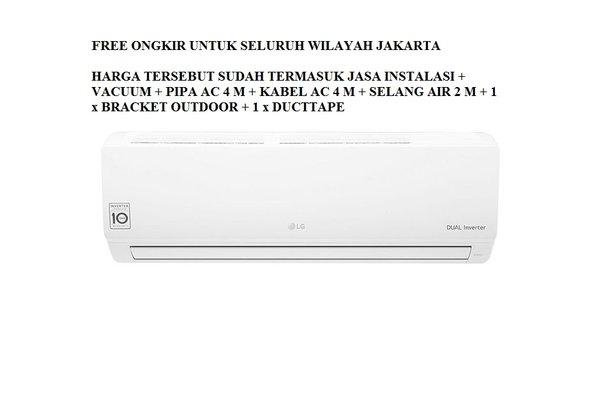 PROMO AC LG DUAL INVERTER 1 PK T-10EV3 FREON R-32. 250-1000 WATT