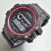 Jam Tangan Pria Cowo Black list Red Digital Rubber Karet Murah QUIMEX