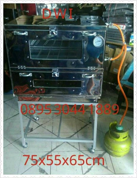 oven gas kue stainless uk 75x55x65cm