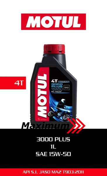 Motul 3000 Plus 1L - 15W50 / Oli Motul 3000 Plus 1L - 15W50 / Motul Oil 3000 Plus 1L - 15W50